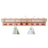 Waschraumleiste mit Becherhalter und Bildleiste, 8 Doppelhaken