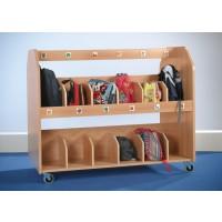 Fahrbarer Taschenwagen für bis zu 24 Taschen
