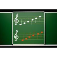 Mit Notenlinien nach dem Orff'schen Instrumentarium