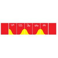 Wandschutzmatte, rot