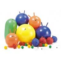 25 Teile in unterschiedlichen Größen und Formen zur Förderung der physischen Reaktionsfähigkeit und Koordination