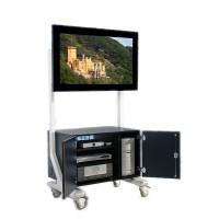 Abbildung zeigt ScreenCard SCXL-S60TF in RAL 7035 Lichtgrau, Dekor schwarz (Mehrpreis).