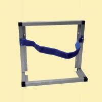 Aluminium-Einstellrahmen mit Klettbandsicherung, zum Stellen, Hängen oder zum Einbau geeignet