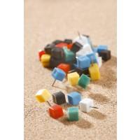 Steck- und Markierungsnadeln (Nadellänge: 10 mm) farbig sortiert