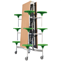 Spaceflex 2.0®, rechteckige Melaminplatte, 12 Sitze, für Kinder ab 11 Jahre