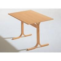 Rechtecktisch mit Holzgestell (Schichtholz)