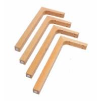4 Tischfüße mit Befestigungsmaterial, 4 Kunststoffgleiter