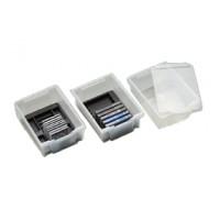 Transparente Box inkl. Deckel, mit verschiedenen Einsätzen