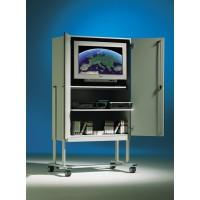 Die Abbildung zeigt Modell TV 120 V, Dekor Grau 20, Metallteile RAL 7035 Lichtgrau.