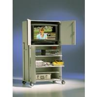 Der TV-Schrank wird gebrauchsfertig aufgebaut angeliefert.