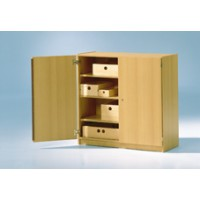 Schrank mit Türen und Einlegeböden, Abbildung Dekor Buche (Lieferung ohne Kästen)