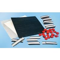 Zubehörsatz für An- und Abwesenheitsplaner • 30 Magnet-U-Profile, 15 mm x 5 cm lang, weiß, mit Karten und Abdeckstreifen • 50 Magnetpunkte, 15 mm, rot • Selbstklebebuchstaben, 5 mm, schwarz