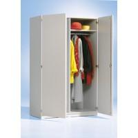 Abbildung: Garderobenschrank 120T 60K, Dekor Grau 20