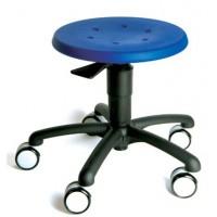 Sitzfläche Polyurethan, wahlweise in blau oder rot