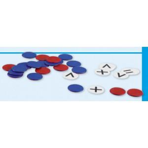 Schüler-Wendeplättchen und Rechenzeichen, Ø 2,5 cm, nicht magnetisch