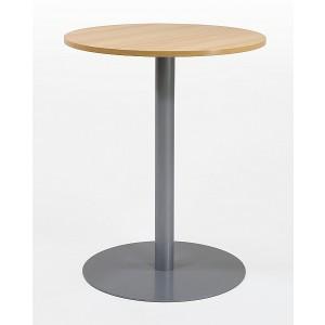 Einsäulentische mit Gestell aus Metall, verschiedene Tischplattenformen