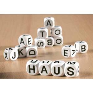 12 Buchstabenwürfel