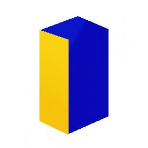 Quader blau / gelb