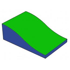 Wellenkeil grün / blau