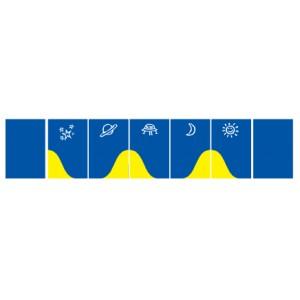 Wandschutzmatten, blau
