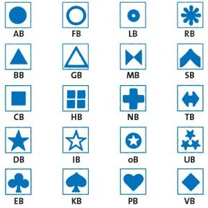 Symbol selbstklebend, blau (30 Stück)
