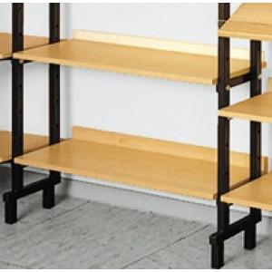 Einlegeböden für Bücher-Prospektregal, einseitig, wandstehend