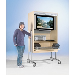 TV-Wagen FTV 120 R, mit Rollo