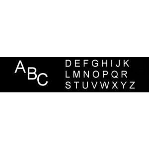 Großbuchstaben 28 mm, für Rillengummitafeln und Türschilder