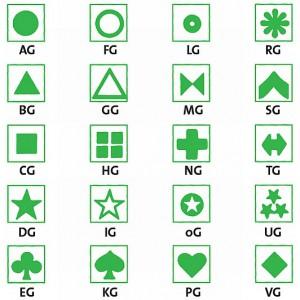 Symbol selbstklebend, grün (30 Stück)