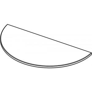 Tischplatte halbrund, ohne Zarge