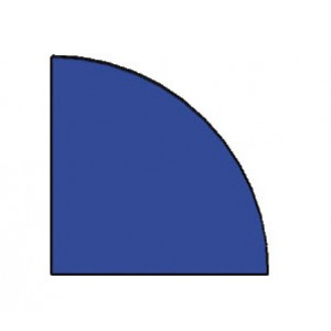 Viertelkreismatte blau