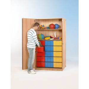 Schrank mit 15 hohen Schüben (farbig)