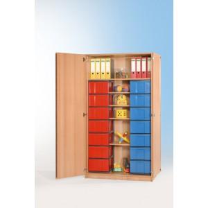 Schrank mit 14 hohen Schüben (farbig)