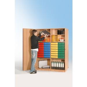 Schrank mit 28 flachen Schüben (farbig)