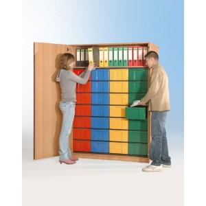 Schrank mit 28 hohen Schüben (farbig)