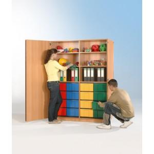 Schrank mit 16 hohen Schüben (farbig)