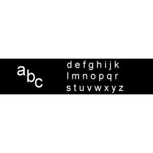 Kleinbuchstaben 28 mm, für Rillengummitafeln und Türschilder