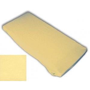 Kinderspannbettlaken (60 x 120 x 8 cm, gelb)