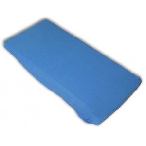 Kinderspannbettlaken (60 x 120 x 8 cm, blau)