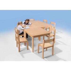 Massivholz - Quadrattisch B / T: 80 x 80 cm