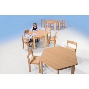 Massivholz - Trapeztisch 120 x 60 x 60 x 60 cm