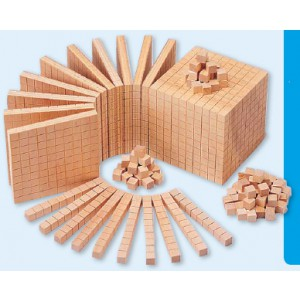Zehnersystem aus Re-Wood - nach Dienes
