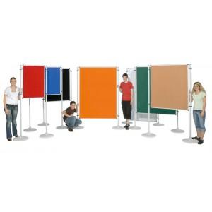 Präsentationstafel NSTT F, Veloursstoff Vorder- Rückseite gleiche Farbe