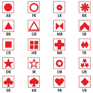 Symbol selbstklebend, rot (30 Stück)