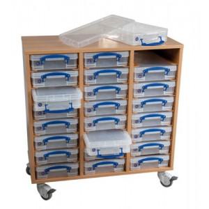 Regalsystem mit 24 Boxen