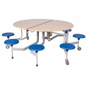 Spaceflex 2.0®, runde Melaminplatte Höhe 74 cm, 8 Sitze, für Kinder ab 11 Jahre