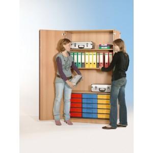 Schrank mit 15 flachen Schüben (farbig)
