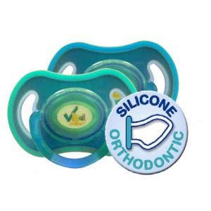 Soft Touch Sauger (blau / grün) bis 6 Monate, orthodentisch, 2er Pack