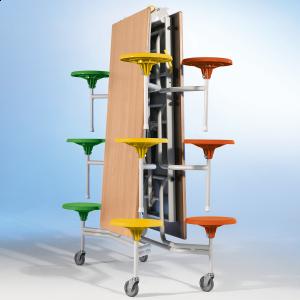 Spaceflex 2.0®, rechteckige Melaminplatte, 12 Sitze, für Kinder von 7 bis 10 Jahren