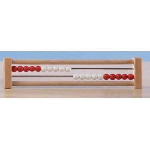 """Schülerrechenmaschine """"System Oehl"""" (1-20, Rot / Weiß)"""